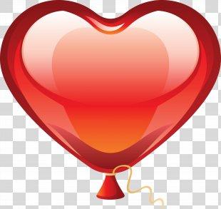 Heart Balloon Clip Art - Balon PNG