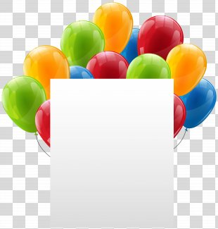 Paper Birthday Balloon Clip Art - Paper Sheet With Balloons Transparent Clip Art PNG