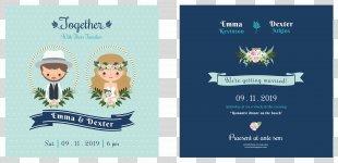 Wedding Invitation Bridegroom Illustration - Cartoon Wedding Invitation Design PNG