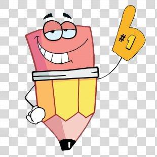 Pencil Drawing Clip Art - Yellow Cartoon Pencil PNG