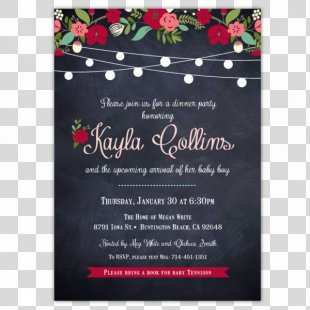 Wedding Invitation Baby Shower Party Birthday Bridal Shower - Invitation Chalkboard PNG