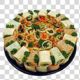 Hors D'oeuvre Vegetarian Cuisine Wrap Pizza Platter - Vegetarian Wraps PNG