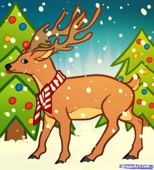 Rudolph Reindeer Moose Drawing - Reindeer PNG
