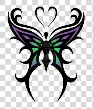 Butterfly Tattoo Tribe Drawing Clip Art - Cool Designs To Draw PNG