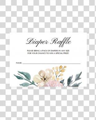Diaper Wedding Invitation Baby Shower Raffle Party - Raffle Ticket PNG