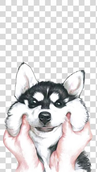 Siberian Husky Drawing - Happy Husky PNG