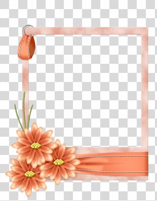 Clip Art Borders And Frames Flower Heart Frame Decorative Borders - Rainbow PNG