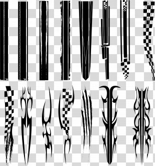 Car Auto Racing Shelby Mustang - Stripes Vector PNG