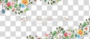 Wedding Invitation Flower Euclidean Vector - Vector Fresh Flowers Border Material PNG