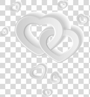 Heart White - White Heart-shaped Elements PNG