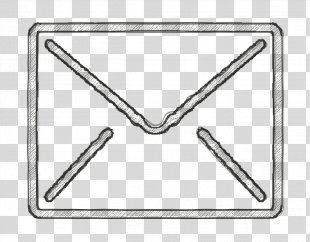 Contact Icon - Triangle Envelope PNG