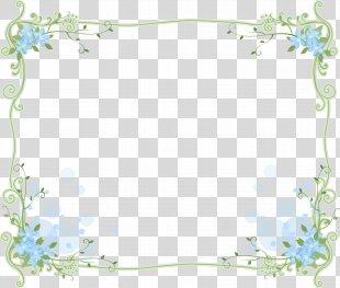 Floral Design Blue Picture Frames Flower Clip Art - Flower PNG