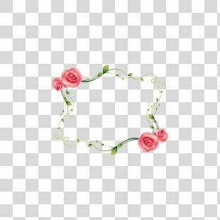 Love Animation - Floral Border PNG