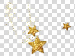 Star Graphic Design Computer File - Gold Decoration Star 1 PNG