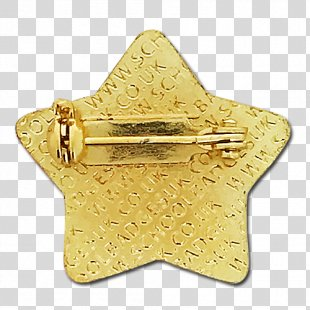 Brass 01504 Gold - Star Badge PNG