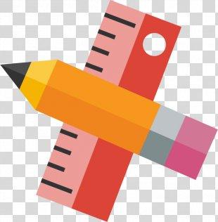 Pencil Ruler Learning - Ruler Pencils PNG