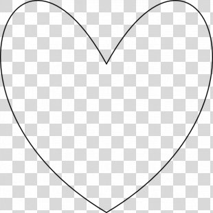 White Heart Black Angle Pattern - Heart Shapes Pictures PNG