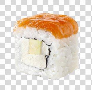 California Roll Sushi Makizushi Tempura Smoked Salmon - Sushi PNG