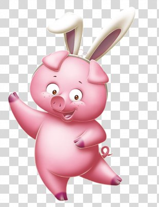 Easter Bunny Egg Decorating Rabbit Easter Egg - Pink Bunny Ears PNG