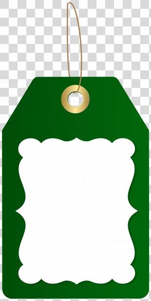 Tag Clip Art - Green Deco Price Tag Clip Art Image PNG
