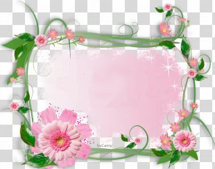 Paper Borders And Frames Picture Frames Flower Clip Art - FLOWER FRAME PNG