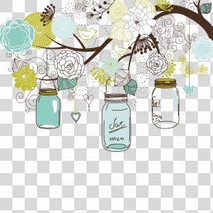 Wedding Invitation Paper Mason Jar Bridal Shower - Wedding Invitation PNG