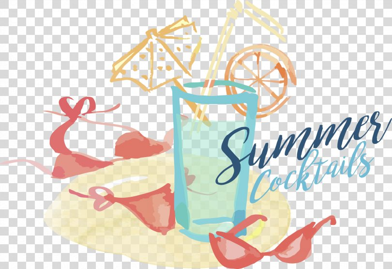 Watercolor Painting Image Drawing Summer Illustration, Animated Juice PNG