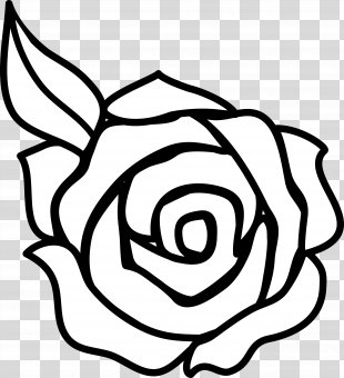 Rose Outline Drawing Clip Art - Rose Clip Art PNG
