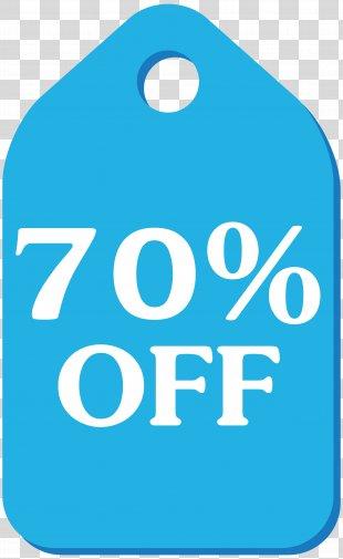 Clip Art - Blue Discount Tag Clip Art Image PNG