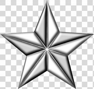 Silver Star Clip Art - 5 Star PNG