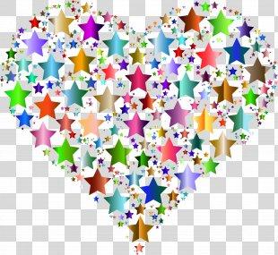 Circle Stars Heart Clip Art - Hearts Stars Cliparts PNG