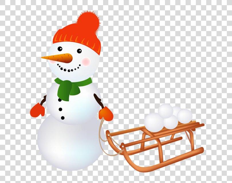 Santa Claus Christmas Snowman Clip Art, Snowman And Sleigh PNG