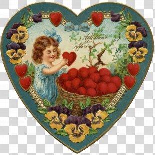 Victorian Era Valentine's Day Heart Cupid Clip Art - Valentine's Day PNG