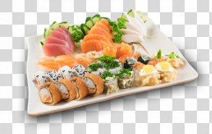 California Roll Sashimi Sushi Smoked Salmon Japanese Cuisine - Sushi PNG