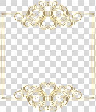 Gold Clip Art - Gold Border Frame Clip Art PNG