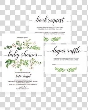 Wedding Invitation Baby Shower Green Wedding - Invitation Baby Shower PNG