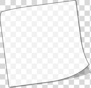 Post-it Note Paper Black And White Clip Art - Sticky Note PNG