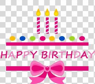 Birthday Cake Happy Birthday To You Clip Art - Pink Birthday Happy Celebration Label PNG