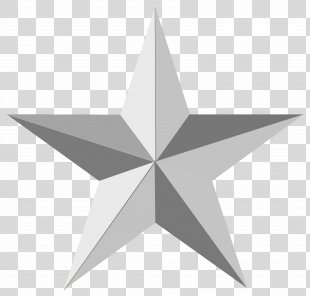 Silver Star Clip Art - Gray Star Image PNG