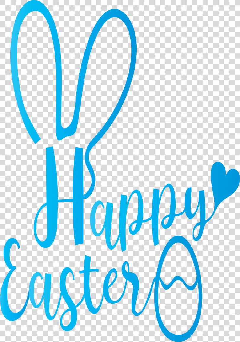 Happy Easter With Bunny Ears PNG
