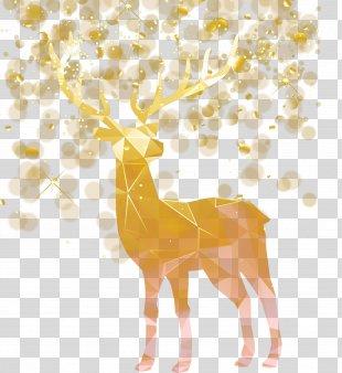 Idea Creativity - Vector Christmas Decoration Elk PNG