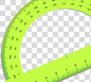 Green Envelope Ruler - Green Ruler School Supplies PNG