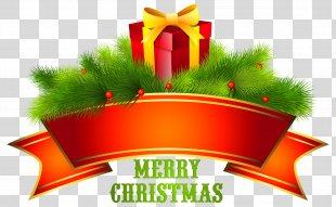 Christmas Santa Claus Clip Art - Merry Christmas Text Free Download PNG