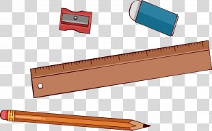 Stationery Pencil Ruler - Pencil, Ruler, Stationery PNG