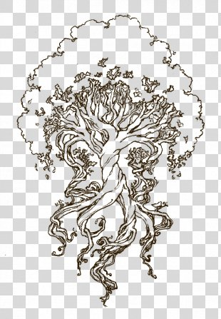 Yggdrasil Drawing Sketch Coloring Book Tree Of Life - Tree Of Life Drawing Celtic PNG