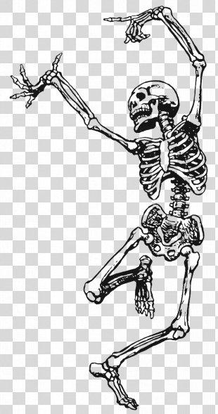 Skeleton Death Dance Art Drawing - Skeleton PNG