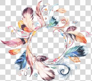Wedding Invitation Wreath Watercolor Painting Flower Bouquet Clip Art - Hand-painted Watercolor Tribal Ornaments Garland Necklace National Wind PNG