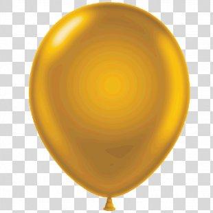 Balloon Gold Metallic Color Clip Art - Balloon PNG