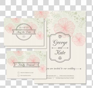 Wedding Invitation Save The Date - Floral Wedding Invitation Card Vector PNG