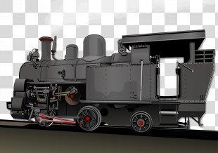 Steam Engine Train Industrial Revolution Locomotive Transport - Steam Train Illustration PNG